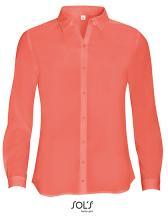 Women`s Long Sleeve Moss Crepe Shirt Betty